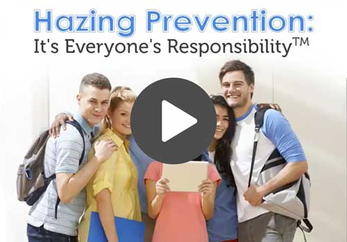 image of a group of people and text that says, hazing prevention.